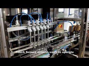 автоматична машина за пълнене с течен пълнеж с 6 глави, линия