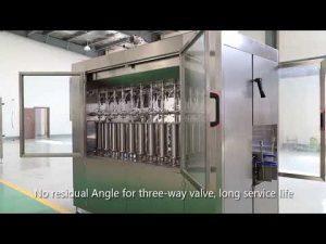 автоматично бутало домашен любимец стъклена бутилка масло течност пълнене капачка етикетиране машина линия