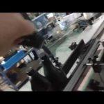 автоматична машина с права стъклена бутилка, алуминиева капачка, роп, капачка